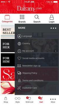 Dairam.com- Online Makeup Store apk screenshot
