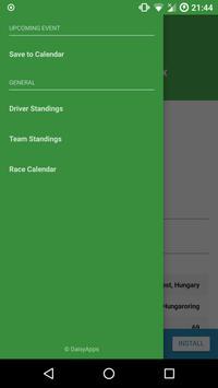 Formula Race Calendar apk screenshot
