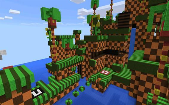 Sonic Parkour MCPE Map apk screenshot