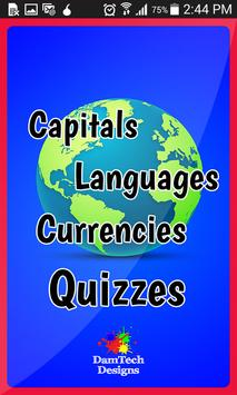 Country Capitals Quiz poster
