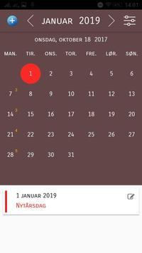 Danmark Kalender 2018 apk screenshot