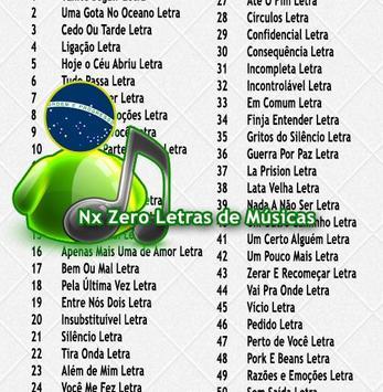 NX Zero Letras poster