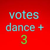 dance plus 3 direct vote icon
