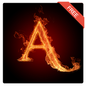3D Letter Fire Live Wallpaper APK