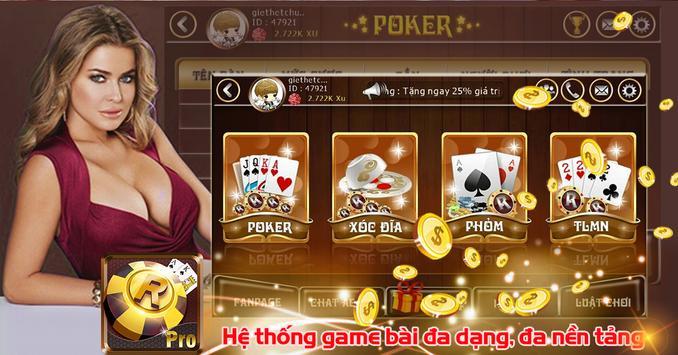RGame Pro - GameBai Doi Thuong screenshot 1