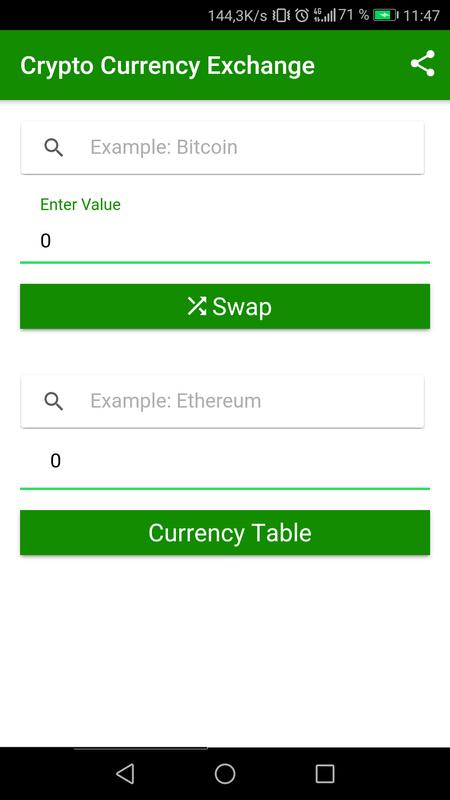 Crypto Currency Exchange Screenshot 6