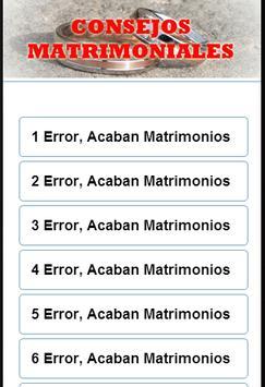 Consejos Matrimoniales apk screenshot