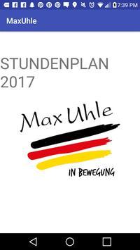 horarios MaxUhle poster