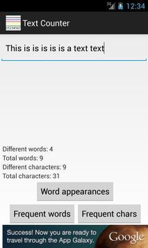 Text Statistics screenshot 1