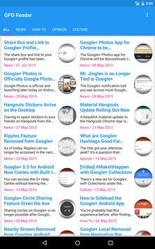 GPD Reader - Google+ news apk screenshot