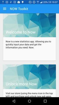Now Toolkit - Statistics. Now. poster