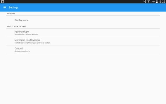 Now Toolkit - Statistics. Now. apk screenshot