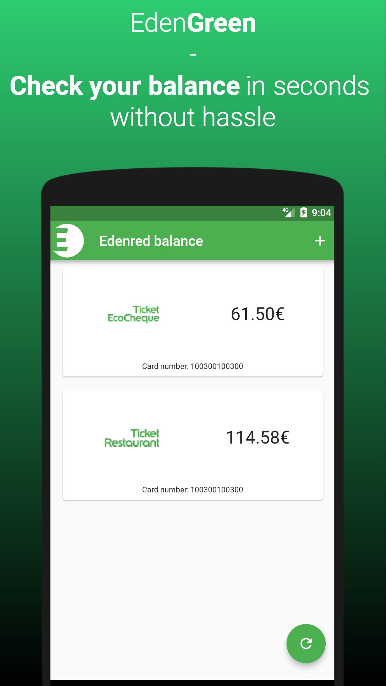 EdenGreen, the EdenRed balance Belgium for Android   APK Download
