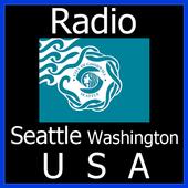 Radio Seattle Washington USA icon