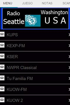 Radio Seattle Washington USA poster