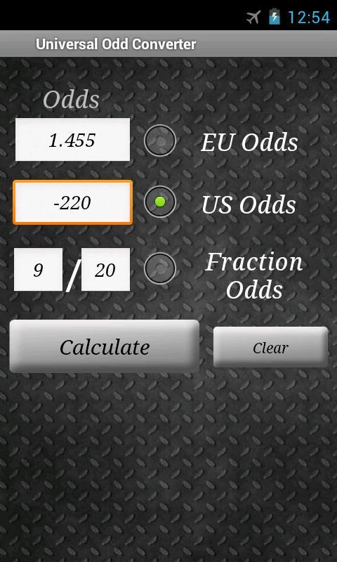 Sure Bet Calculator
