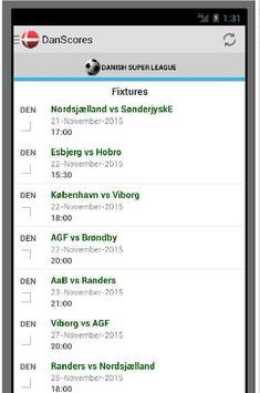 Danish Livescores App screenshot 3