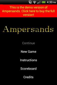 Ampersands Demo poster