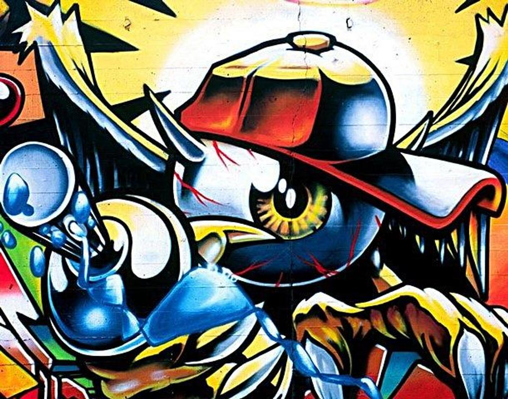Desain graffiti 3d poster desain graffiti 3d screenshot 1