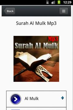 Surat Al-Mulk Mp3 - M. Taha apk screenshot