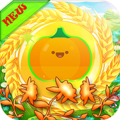 Adventure super pumpkin and candy icon