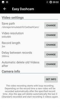 Easy Dashcam App apk screenshot