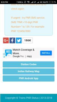 Indian Raiway PNR status screenshot 3