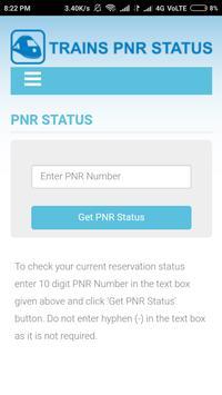Indian Raiway PNR status screenshot 1