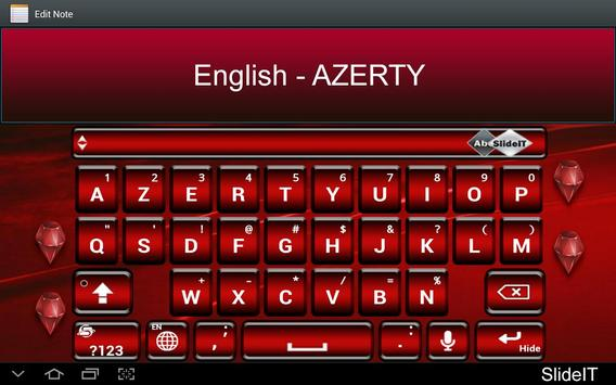 SlideIT English AZERTY Pack poster