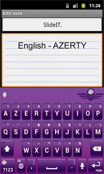 SlideIT English AZERTY Pack screenshot 1