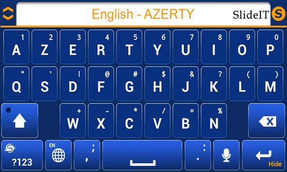 SlideIT English AZERTY Pack screenshot 2