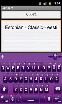 SlideIT Estonian Classic Pack screenshot 1