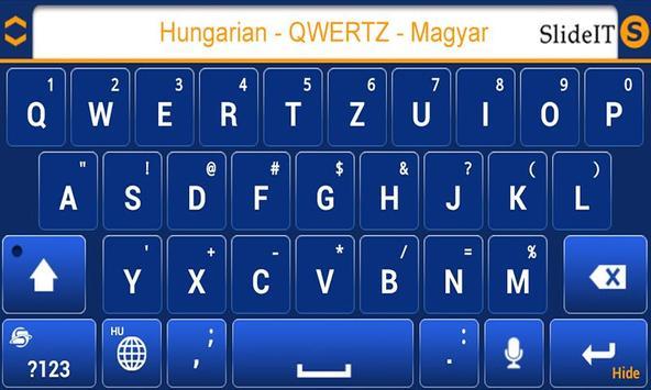 SlideIT Hungarian QWERTZ Pack screenshot 2