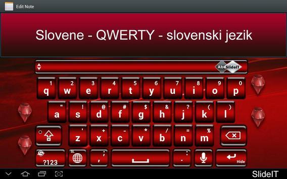 SlideIT Slovenian QWERTY Pack poster