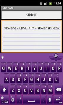 SlideIT Slovenian QWERTY Pack screenshot 1