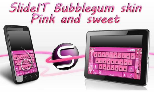 SlideIT Bubblegum Skin poster