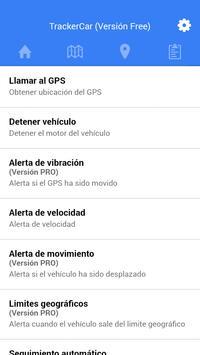 TrackerCar SMS Free apk screenshot