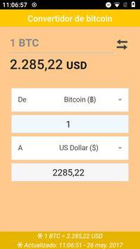 Convertidor de bitcoin poster
