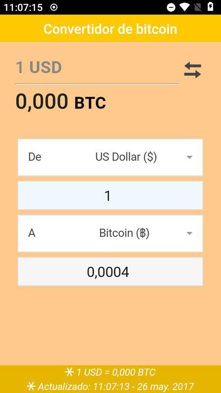 Convertidor De Bitcoin Poster Screenshot 1