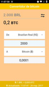 Convertidor de bitcoin apk screenshot