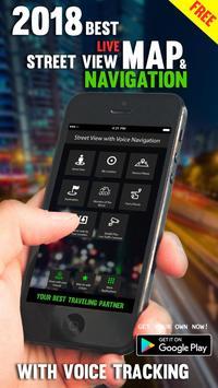 Straat Uitzicht Live - satelliet Wereldkaarten-poster