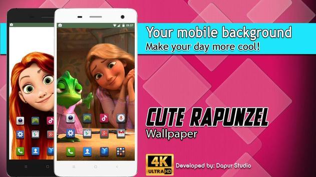 Cute Rapunzel Wallpaper poster