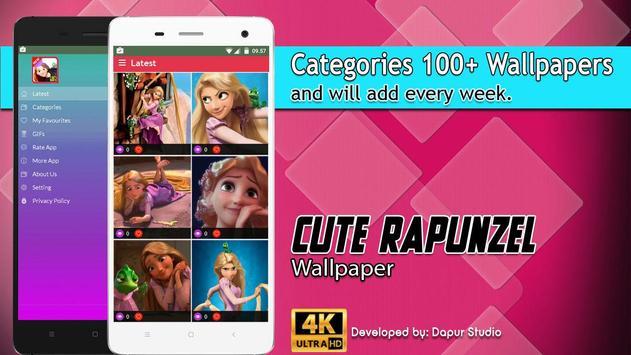 Cute Rapunzel Wallpaper screenshot 2