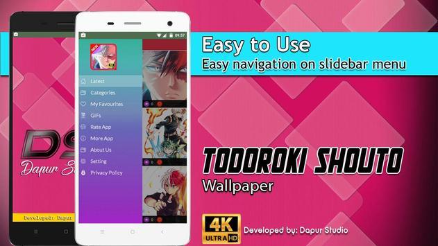 Todoroki Shouto Wallpaper screenshot 1