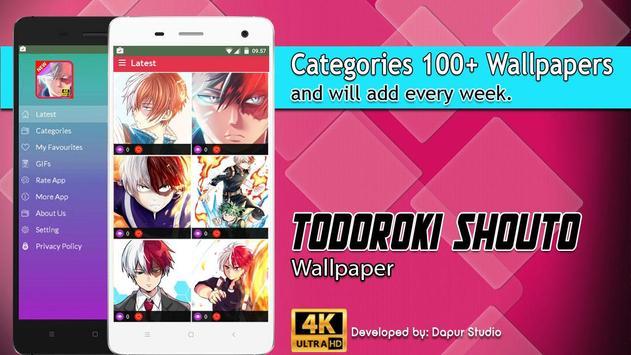 Todoroki Shouto Wallpaper screenshot 2