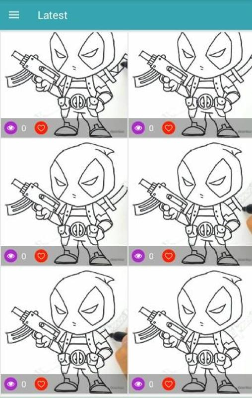 Cómo Dibujar Deadpool Paso A Paso For Android Apk Download