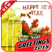 New Year Greetings 2018 icon