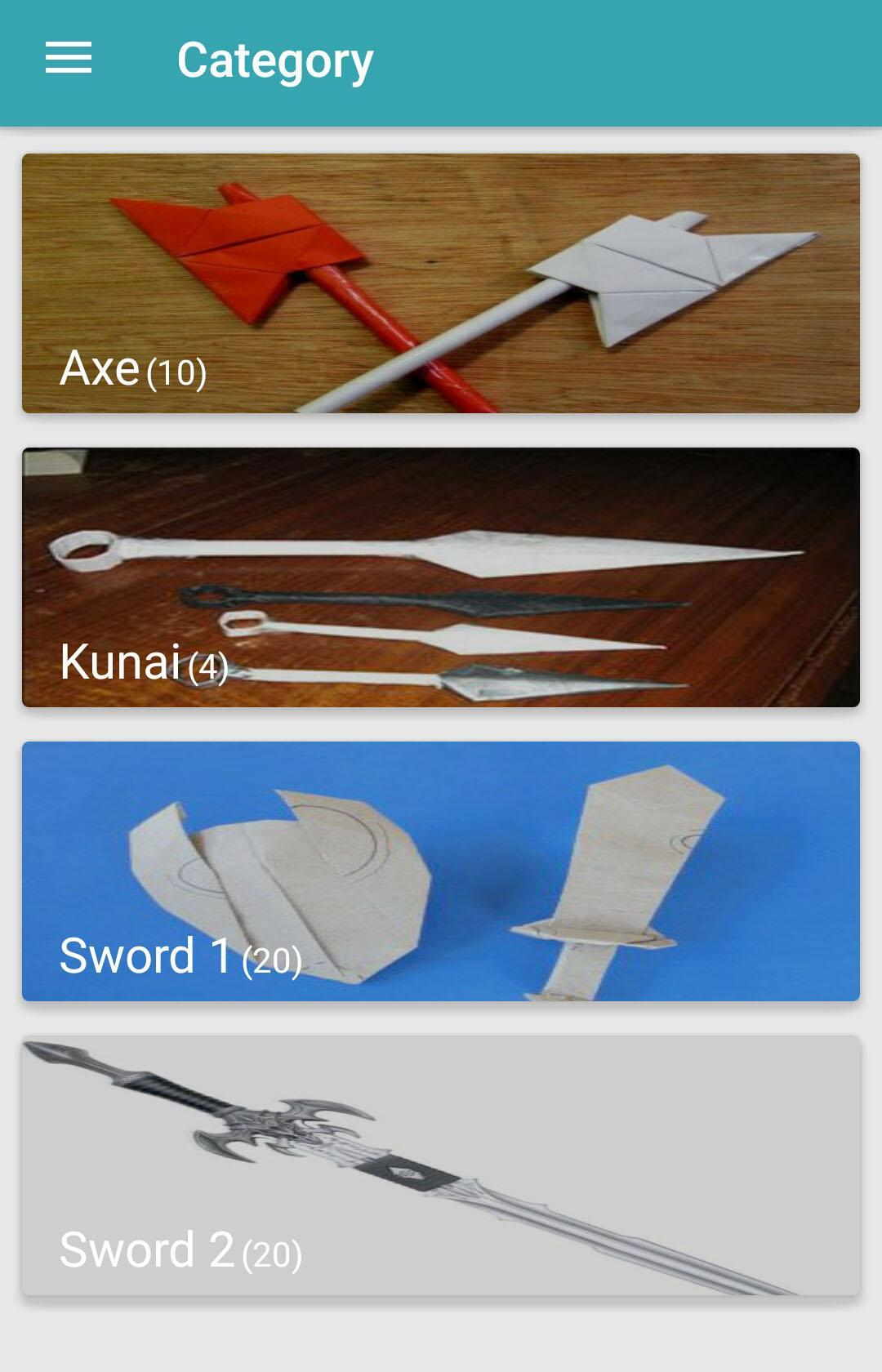 Origami Weapons poster