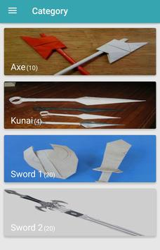 Origami Weapons screenshot 2