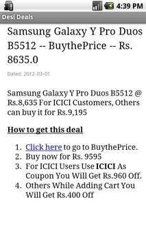 Desi Deals apk screenshot